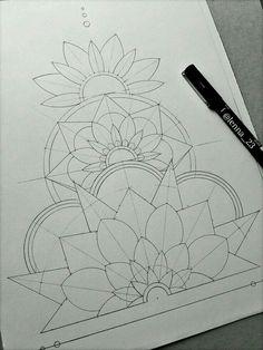 This Beginning of this Mandala and Floral Artwork is So Inspiring! — Jaye Janua… This Beginning of this Mandala and Floral Artwork is So Inspiring! Pencil Art Drawings, Art Drawings Sketches, Doodle Drawings, Tattoo Sketches, Doodle Sketch, Tattoo Drawings, Mandala Design, Doodle Art, Mandala Art Lesson