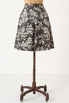 Inked Flora Skirt