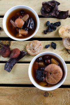 Compote for More Breastmilk | giverecipe.com | #compote #turkish #breastmilk #carob #fig #apricot #apple #raisin #healthy