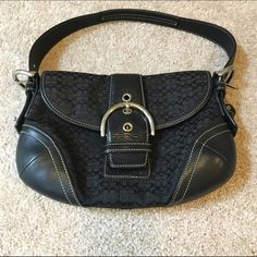 Authentic Coach Shoulder Bag Black, medium size bag. EUC. Not used as a daily bag, only used a handful of times. Just taking up space in my closet! Coach Bags