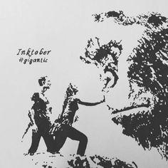 #inktober #inktober2017 #inkartist #day10 #gigantic #kong #blackink