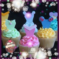 Disney Princess cupcakes                                                                                                                                                                                 More
