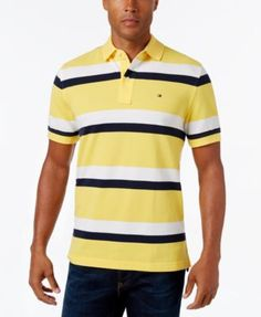 TOMMY HILFIGER Tommy Hilfiger Men'S Ace Striped Polo. #tommyhilfiger #cloth # polos