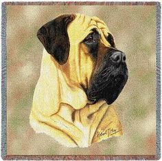 Bull Mastiff Dog by Robert May Art Tapestry Pillow Bolster Cushions, Pillows, Bull Mastiff Dogs, Tapestry Bag, Reclaimed Wood Furniture, Dog Design, Dogs And Puppies, Bullmastiff, Animals