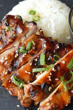 Healthy chicken recipes, asian recipes, teriyaki sauce, tandoori chicken, g Chicken Teriyaki Recipe, Chicken Marinade Recipes, Chicken Recipes Video, Homemade Teriyaki Sauce, Chicken Marinades, Healthy Chicken Recipes, Grilling Recipes, Healthy Dinner Recipes, Asian Recipes