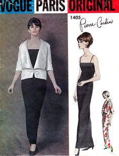 60s Vogue Paris Original Sewing Pattern by allthepreciousthings,