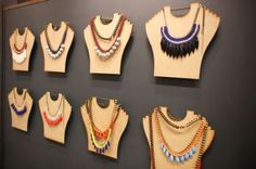necklaces could be on shirt or dress cutouts rings on finger cutouts bows on heads - October 20 2019 at Necklace Display, Earring Display, Necklace Hanger, Hang Necklaces, Tree Necklace, Jewellery Storage, Jewelry Organization, Jewellery Displays, Custom Jewelry