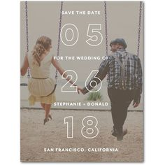 Superb Overture - Save the Date Postcards - Magnolia Press - White : Front