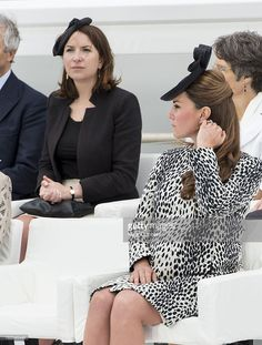 Catherine, Duchess of Cambridge with Rebecca Deacon, (private secretary to Catherine, Duchess of Cambridge) as Catherine, Duchess of Cambridge attends the Princess Cruises ship naming ceremony at Ocean Terminal in Southampton on June 13, 2013 in , United Kingdom.  (Photo by Mark Cuthbert/UK Press via Getty Images)