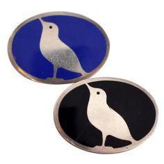 Koloman Moser. Silver and enamel brooches. Wiener Werkstatte. | 1stdibs.com