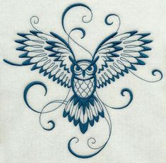 Inky Owl in flight Machine Embroidery Designs at Embroidery Library! Flying Owl Tattoo, Owl Tattoo Back, Simple Owl Tattoo, Owl Tattoo Wrist, Simple Owl Drawing, Cute Owl Drawing, White Owl Tattoo, Owl Tattoo Small, Neue Tattoos