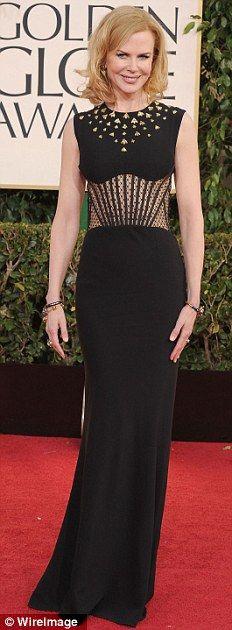 Nicole Kidman in Alexander McQueen - Golden Globes 2013.