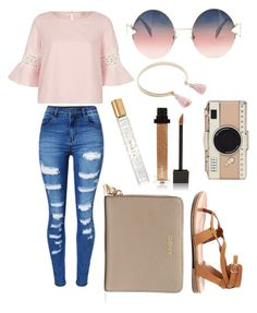 """Afternoon With Friends"" by kyra-leee on Polyvore featuring WithChic, River Island, Fendi, DKNY, Sole Society, Breckelle's, Kate Spade, Jouer and AERIN"