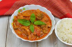 Chicken In Red Thai Curry Recipe - In this recipe you will know how to make Thai Red Chicken Curry using various simple and easily available ingredients.