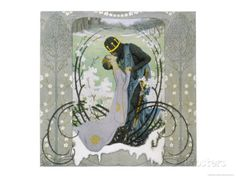 The Prince Wakes Sleeping Beauty from Her Sleep with a Kiss Giclee Print by Heinrich Lefler at AllPosters.com