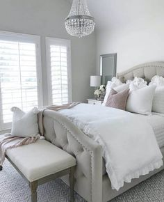 9 Cozy Bedroom Ideas for the Winter This time of year I always feel like hibernating! With the cold temps I have come up with 9 cozy bedroom ideas that will give you all the warm feels you are looking for! Romantic Master Bedroom, Pretty Bedroom, Master Bedroom Design, Modern Bedroom, Contemporary Bedroom, Master Suite, Bedroom Classic, Bedroom Simple, Bedroom Designs