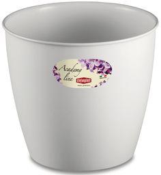 Pot ou Cache Pot Interieur et Exterieur 4.5 L ACADEMY ROND Blanc au meilleur prix ! - LeKingStore