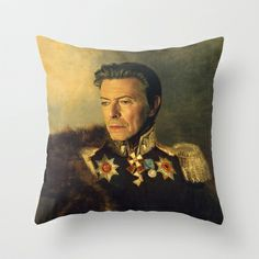 David Bowie - replaceface Throw Pillow