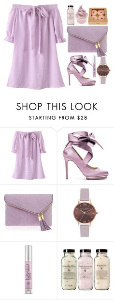 """""""Lavender"""" by stevie-pumpkin ❤ liked on Polyvore featuring Liam Fahy, Henri Bendel, Olivia Burton and Urban Decay"""