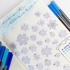 Mood Tracker Snowflakes Bullet Journal