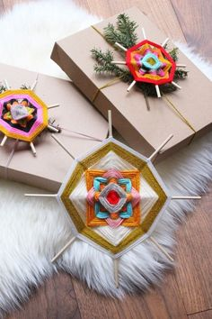 Remember those simple little diamond shaped yarn weavings we all made at summer camp with just...