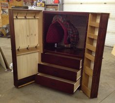 my new tack locker!!! made with love