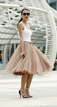 tulle skirt #DressignwithBarbie