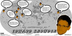 Where in the world is PRISM whistleblower Edward Snowden? Edward Snowden, State Government, Social Media, Adventure, World, Infographics, Infographic, Social Networks, Adventure Movies