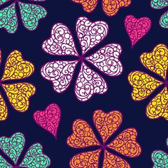 Pattern design for sale Flourish, Valentines Day, Projects To Try, Abstract, Illustration, Flowers, Fabrics, Design, Colorful