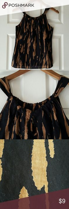 Tank top Black and Brown Old Navy tank top, never been worn but no tags. Old Navy Tops Tank Tops