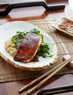 Honey-Chili Salmon with white bean recipe---can not wait too try!