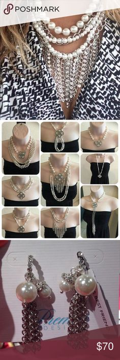 Girl's Best Friend Necklace and Earrings Beautiful premier designs girls best friend necklace and earrings set! Used only as display! Brand new!! Over 30 different ways to wear the necklace - nearly all strands are removable and interchangeable!! Earrings are also able to be changed for different looks! This price is a steal as the necklace itself retails for $76!! Premier Designs Jewelry