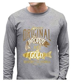 Eagle u2 Men's Vintage Thermal Shirt Catch the Brown and Gold gray - Brought to you by Avarsha.com