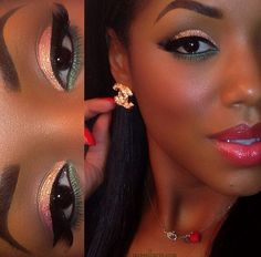 Makeup for black women #pinklipsblackwomen