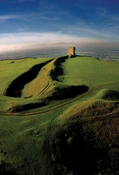 Bredon Hill, Worcestershire, smallest county in England 30x35 miles