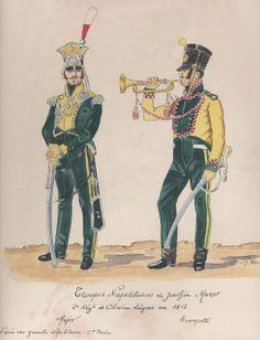 Cavalleggero e tromba dei cavalleggeri dell'armata di Murat