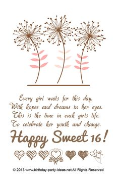 sweet 16 birthday poems for daughter sixteenth birthday poems