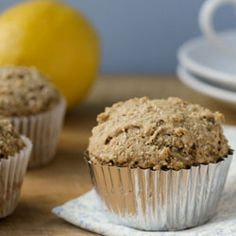 To give you an idea of what these lemon chia seed muffins are like, think lemon poppyseed cake dumped on its head and rebuilt awesome.