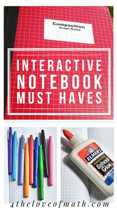 6 Interactive Notebook Must Haves {Tools & Tips related to Secondary Math… Middle School Classroom, Middle School Science, Future Classroom, Interactive Student Notebooks, Math Notebooks, Book Organization, Classroom Organization, Classroom Tools, Classroom Ideas