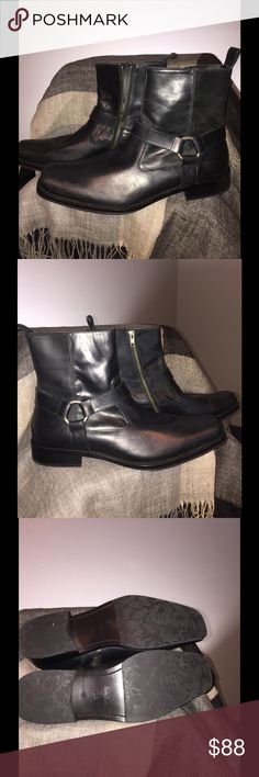 Men's Boots by Gordon Rush /Diablo sz 10.5 Never worn. Very Soft Leather. Easy wearing with side zipper. Gordon Rush Shoes Boots