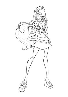 Musa Winx Club Color Page Cartoon Characters Coloring Pages
