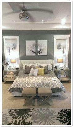 Rustic Master Bedroom, Master Bedroom Makeover, Home Decor Bedroom, Diy Bedroom, Bedroom Sets, Master Bedrooms, Dream Bedroom, Bedroom Curtains, Bedroom Black