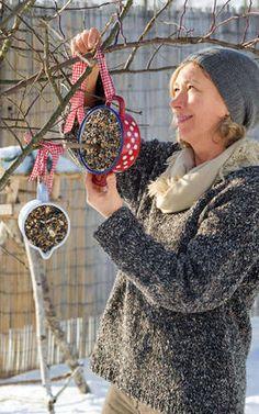 The eye eats with: Bird food creatively arranged – muskaf