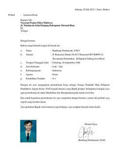 Surat Lamaran Kerja Bank Bri Septiarini Education Curriculum