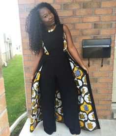 African women cape jumpsuit / African print romper / ankara jumpsuit / African clothing for women/ dashiki jumpsuit /African women attire African Attire, African Wear, African Women, African Dress, African Inspired Fashion, African Print Fashion, African Fashion Dresses, Fashion Outfits, Ootd Fashion