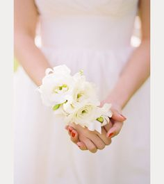 Loving the idea of a wrist corsage instead of a bouquet for my beach wedding! Wedding Blog, Diy Wedding, Wedding Styles, Wedding Planner, Wedding Photos, Dream Wedding, Wedding Day, Table Wedding, October Wedding