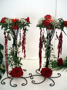 Decoración de candelabros de forja para boda