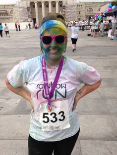 Rainbow Runner Carey #running @fitnesschrysalis