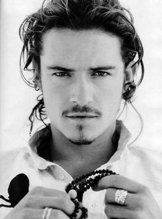 ♂ man portrait face black and white | Orlando Bloom