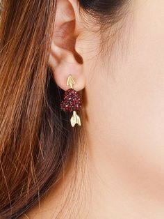 Shop Arrow Pattern With Grapes Shape Rhinestone Stud Earrings at ROMWE, discover more fashion styles online. Jewelry Trends, Jewelry Accessories, Arrow Pattern, Pearl Earrings, Drop Earrings, Cute Bags, Rose Gold, Shapes, Gemstones